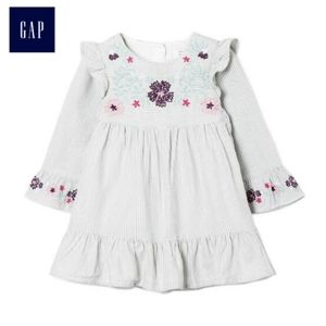 Gap striped embroidery dress size 6-12 months